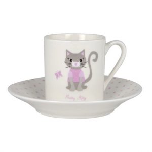 Ashdene Babycino Pretty Kitty Cup And Saucer