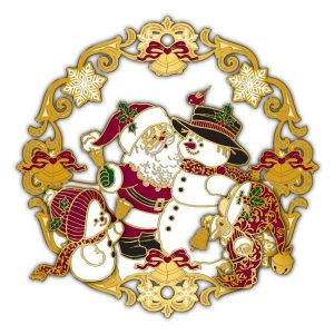 Adornment 3D Ornament Santa Meets Snowman