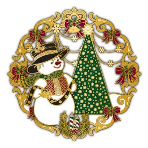 Adornment 3D Ornament Happy Snowman