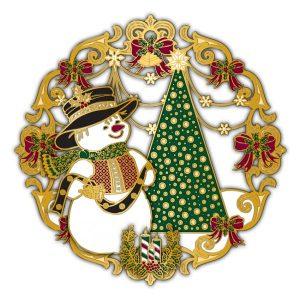 Adornment 3D Ornament Happy Snowman