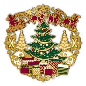 Adornment3DOrnament Xmas Tree with Santa
