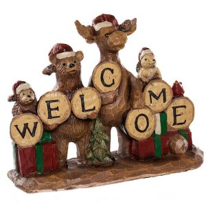 Country Moose Welcome Figurine