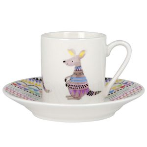 Cooee Kangaroo Espresso Cup And Saucer