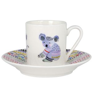 Cooee Koala Espresso Cup And Saucer