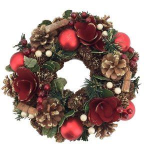 Festive Christmas Wreath 25cm