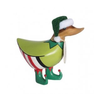 Christmas Sparkling Elf Ducky With Glitter Hat