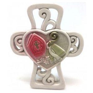Filigree Confirmation Cross Resin Ornament