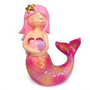 Mermaid Money Box Light Pink