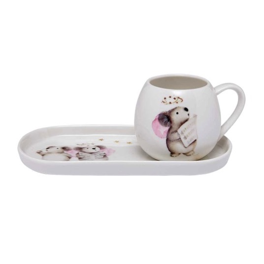Ashdene Plum Pudding Koala Mug and Plate Set