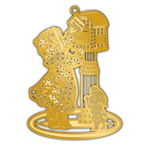 Adornment Gold Xmas Bow Ornament