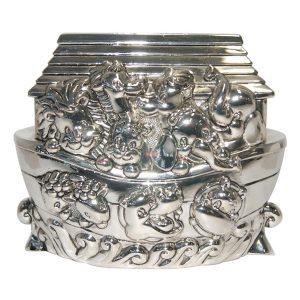 Noahs Ark Money Box Antique Silver