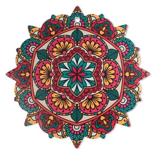 Trivet Mandala Red