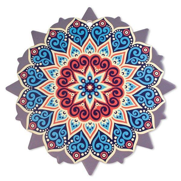 Trivet Mandala Blue