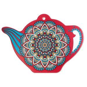 Trivet Teapot Mandala Red