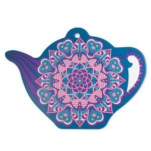 Trivet Teapot Mandala Blue