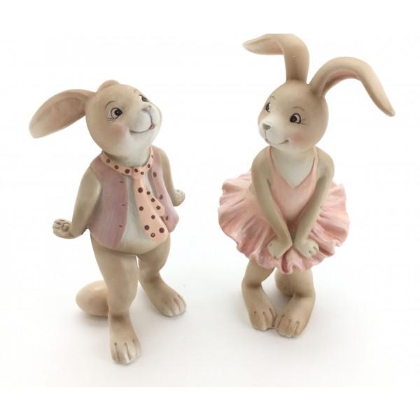 Cutie Rabbit Figurines Set