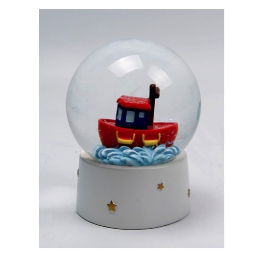 Tugboat Waterball Snow Globe