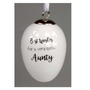 Best Wishes Aunty Ceramic Egg