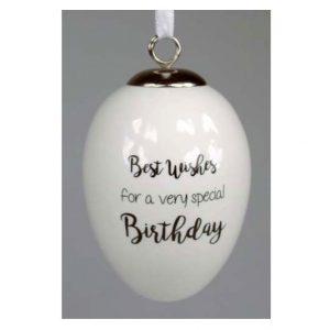 Best Wishes Special Birthday Ceramic Egg