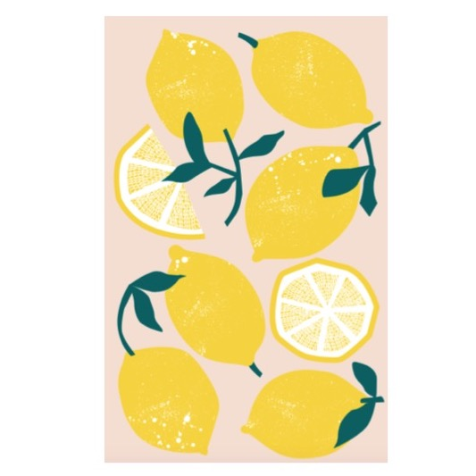 Lemons Cotton Tea Towel