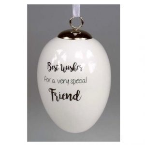 Best Wishes Special Friend Ceramic Egg