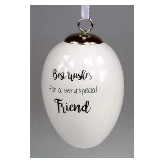 Best Wishes Special Friend Ceramic Egg