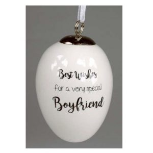 Best Wishes Boyfriend Ceramic Egg