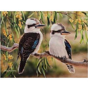 Australian Bird And Flora Kookaburra Tea Towel