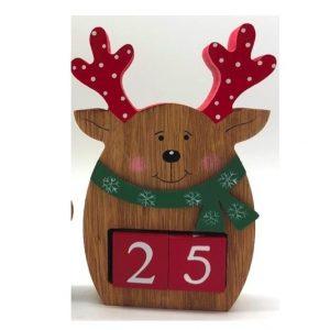 Reindeer Wooden Christmas Advent Calendar
