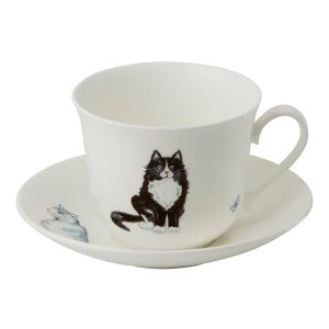Roy Kirkham Cats Breakfast Cup And Saucer