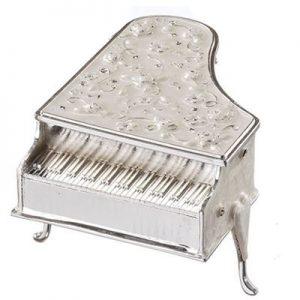 Roman Caroline Ivory Piano Keepsake Box