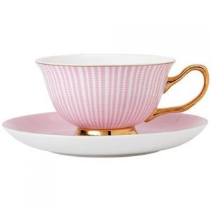 Ashdene Parisienne Teacup and Saucer Pink