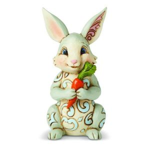Jim Shore Bunny With Carrot Mini Figurine