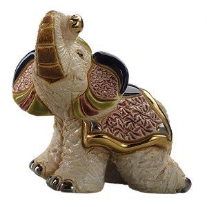 Baby White Indian Elephant Ornament