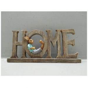 Home Sign With Bunny