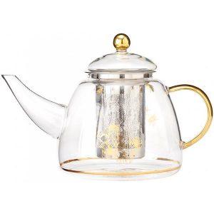 Ashdene Honey Bee Glass Teapot
