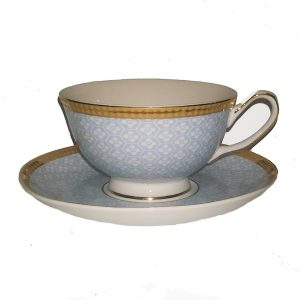 Christiana Miss Juliet Blue Cup And Saucer