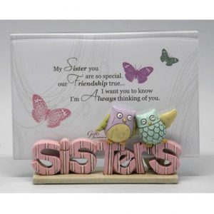 Colourful Words Sisters Photo Frame