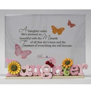 Colourful Words Daughter Photo Frame