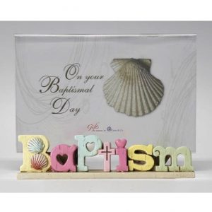 Colourful Words Baptism Photo Frame