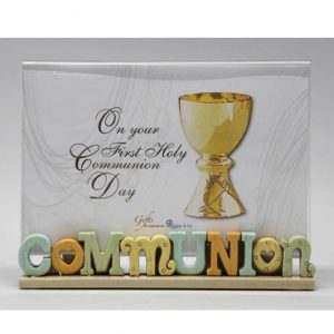 Colourful Words Communion Photo Frame