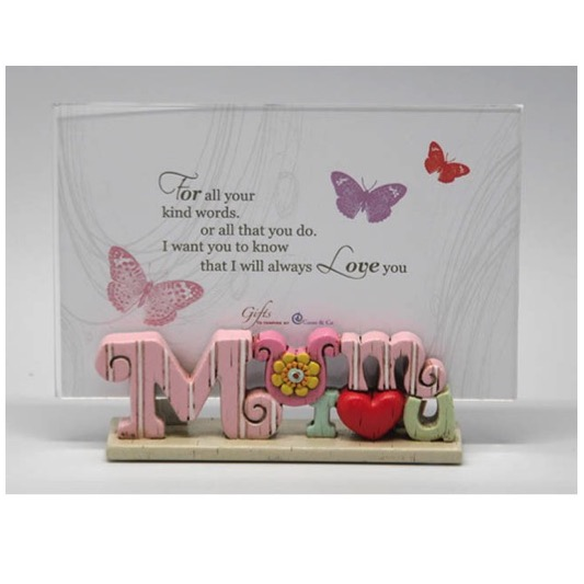 Colourful Words Mum I Love You Photo Frame