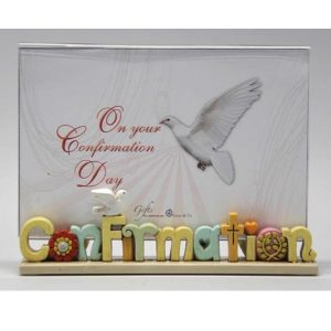 Colourful Words Confirmation Photo Frame