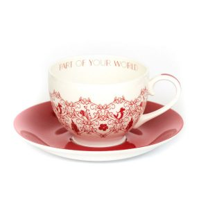 English Ladies Ariel Story Cup And Saucer
