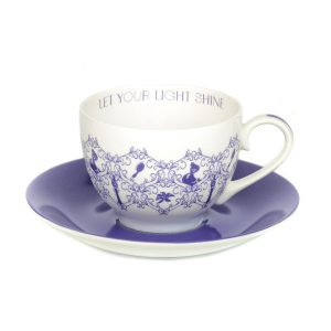 English Ladies Rapunzel Story Cup And Saucer