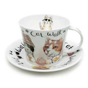 Roy Kirkham Animal Fashion Cats Cup And Saucer