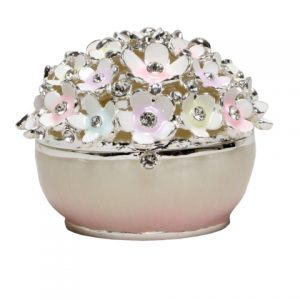Crystal Set Daisy Trinket Box Pastel