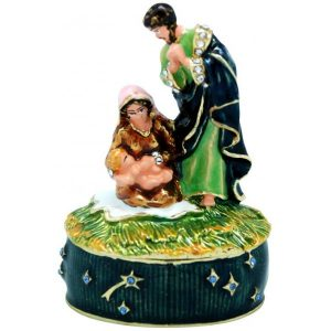 Christmas Nativity Trinket Box