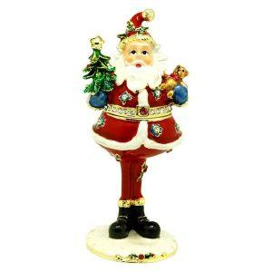 Tall Santa Trinket Box