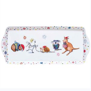 Barney Christmas Sandwich Tray